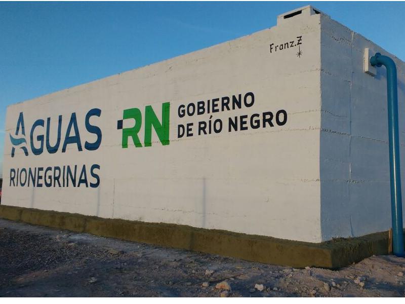 Aguas Rionegrinas está próxima a habilitar la nueva cisterna de Playas Doradas